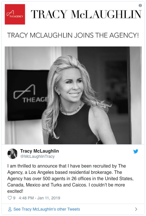 Tracy joins the agency