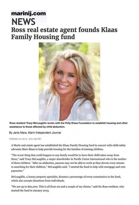 Ross real estate agent founds Klaas Family Housing fund