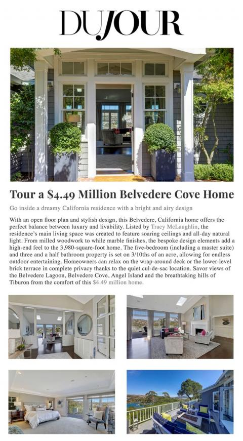 Tour a $4.49 Million Belvedere Cove Home