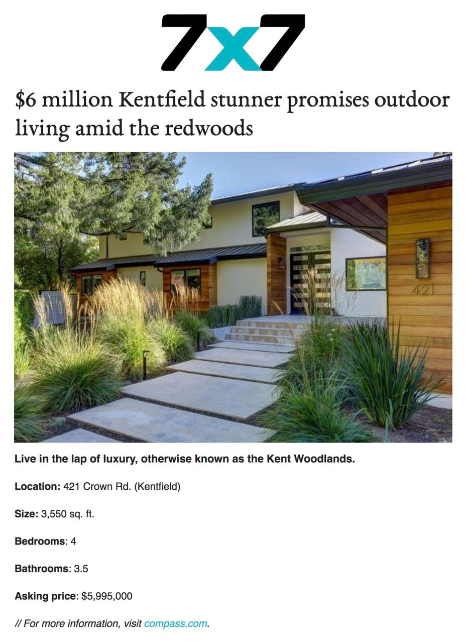 $6 million Kentfield stunner promises outdoor living amid the redwoods