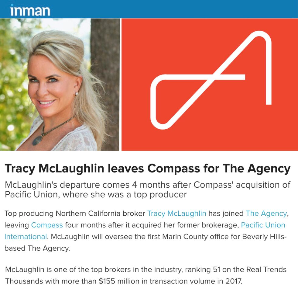 Tracy McLaughlin leaves Compass for The Agency