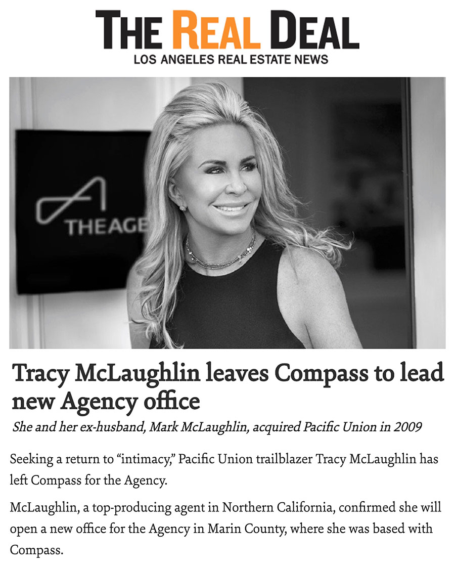 Tracy McLaughlin leaves Compass to lead new Agency office