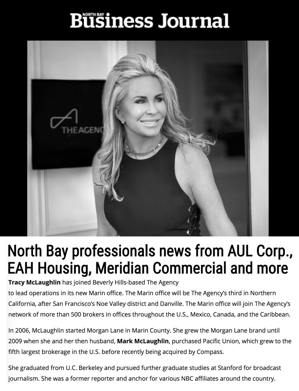 North Bay professionals news from AUL Corp., EAH Housing, Meridian Commercial and more