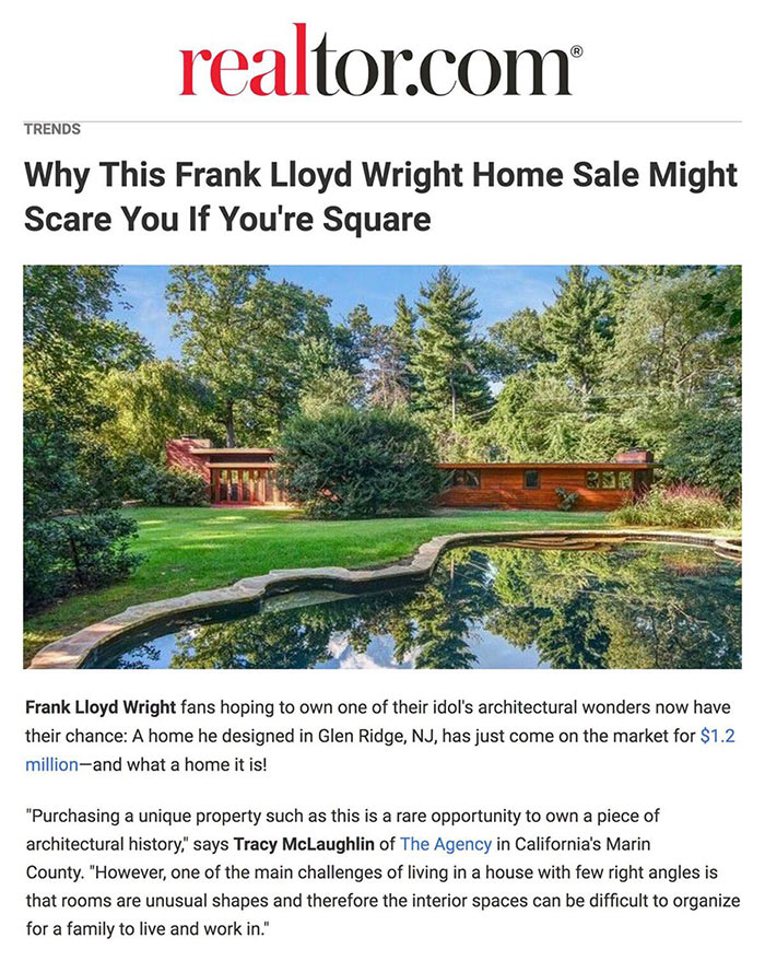 Cover shot of Frank Loyd Wright Home