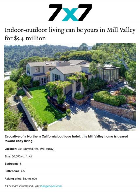 Indoor-outdoor living can be yours in Mill Valley for $5.4 million