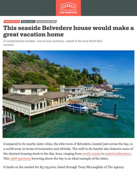This seaside Belvedere house would make a great vacation home