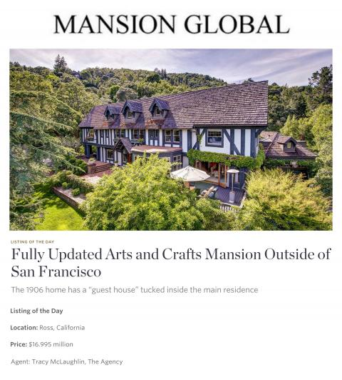 Fully Updated Arts and Crafts Mansion Outside of San Francisco