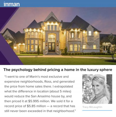 Tracy Talks to Inman News About the Psychology Behind Pricing in the Luxury Sphere!