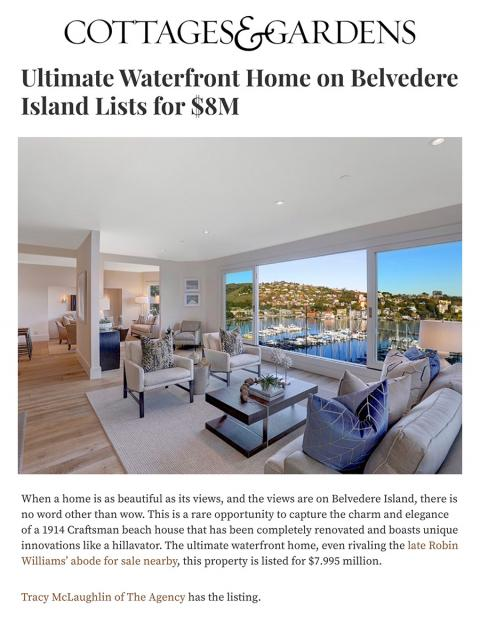 Ultimate Waterfront Home on Belvedere Island Lists for $8M
